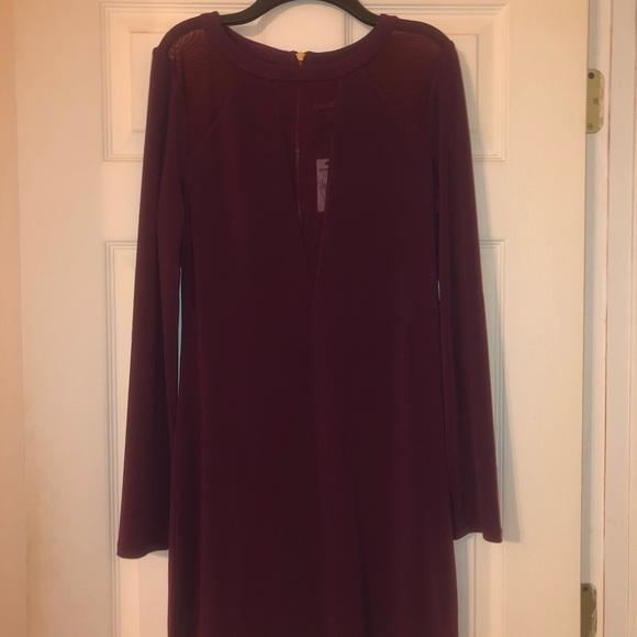 Express Dresses & Skirts - NWT Burgundy Express dress size medium.